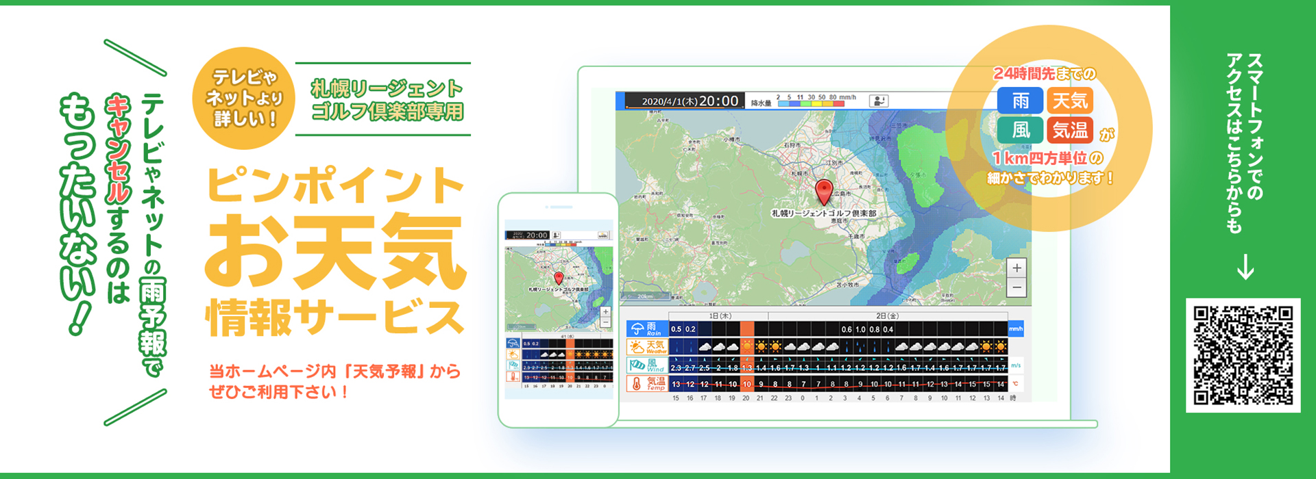 ピンポイント天気情報サービス